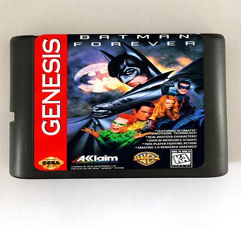Batman Forever Game Cartridge Newest 16 bit Game Card For Sega Mega Drive / Genesis System