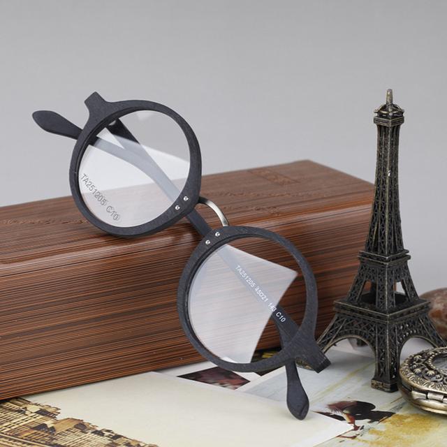 2017 Nueva Calidad Superior de Madera de Imitación Retro Style Fotograma Completo Vidrios Ópticos Gafas Graduadas
