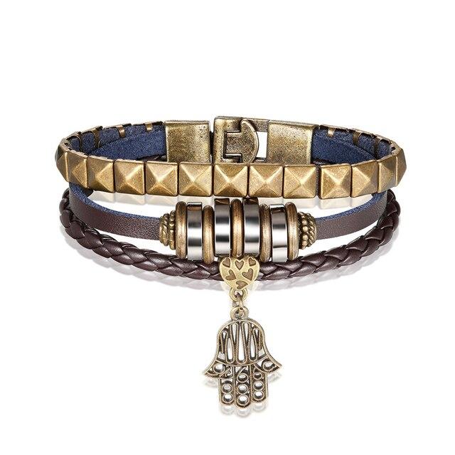 Новый модный простой мужской браслет janeyacy 2018 винтажный