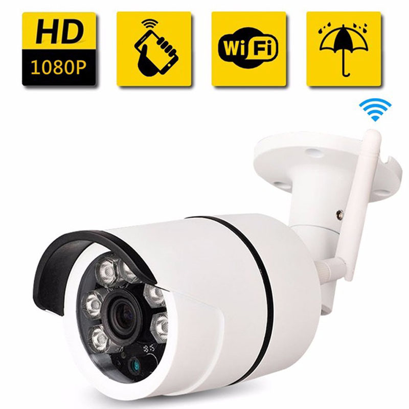 цена Wireless WIFI IP camera Security Camera P2P Night Vision CCTV Camera Bullet Waterproof 2.0MP 1080P Full HD Night Vision