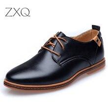 2016 leder Casual Männer Schuhe Mode Männer Wohnungen Runde Kappe Komfortable Büro Männer Kleid Schuhe Plus Größe 38-48