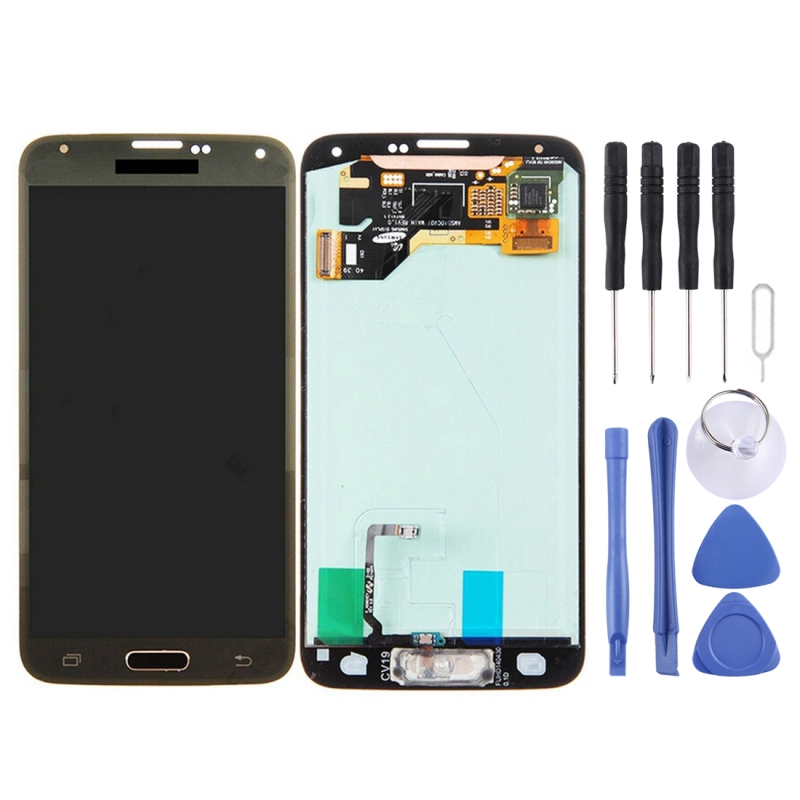 High Quality LCD Screen and Digitizer Full Assembly Replacement Glass for Samsung Galaxy S5 / G9006V / G900F with ToolHigh Quality LCD Screen and Digitizer Full Assembly Replacement Glass for Samsung Galaxy S5 / G9006V / G900F with Tool