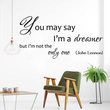 john Lennon Art but I am not the only one Wall Stickers Decor Removable Sticker Home Decoration Accessories