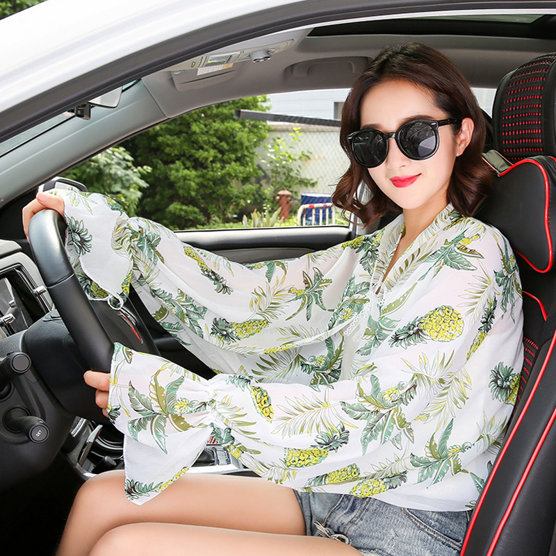 Female Sunscreen Long Gloves Women Summer Driving Riding Lace Sun Shade Arm Sleeves Anti-ultraviolet Breathable Cool Cuff H3131