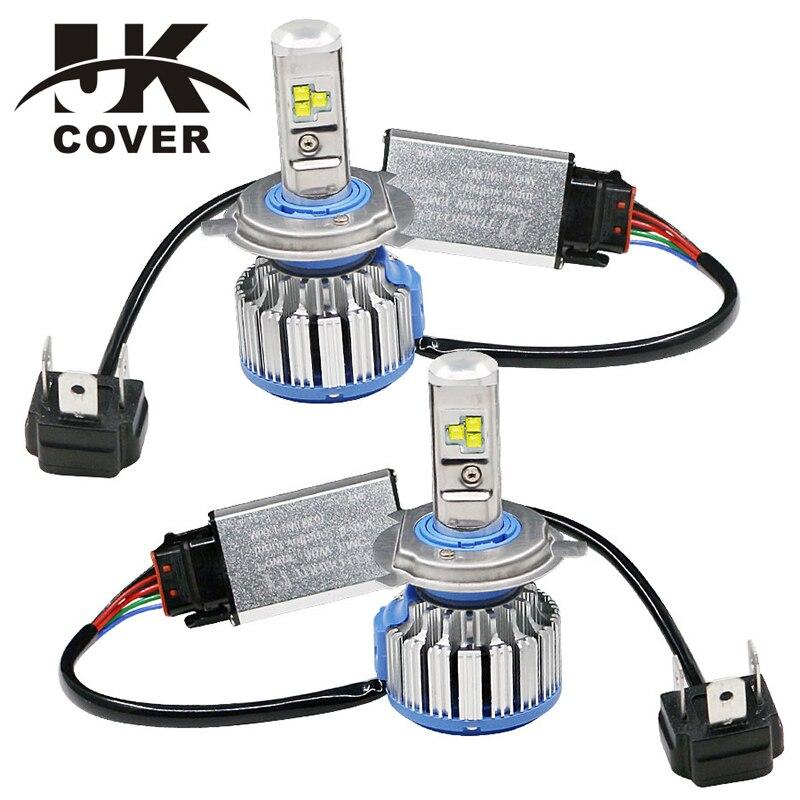 JKCOVER Voiture LED Phare Ampoules Tout en OneH7 H11 H1 H3 9005 9006 9012 70 W 7000LM H4 H13 9007 9004 Haut Bas Faisceau Lumières