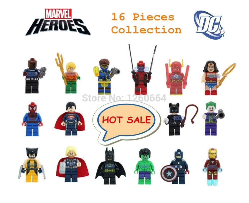 16 Pcs FULL SET 2019 MINI FIGURES MINIFIGS FIT LEGO MARVEL DC SUPER HEROES TOY