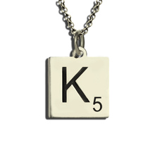 Personalized Scrabble Necklace Sterling Silver Scrabble Letter Necklace Alphabet Necklace Letter Charms Love the Game scrabble trainer