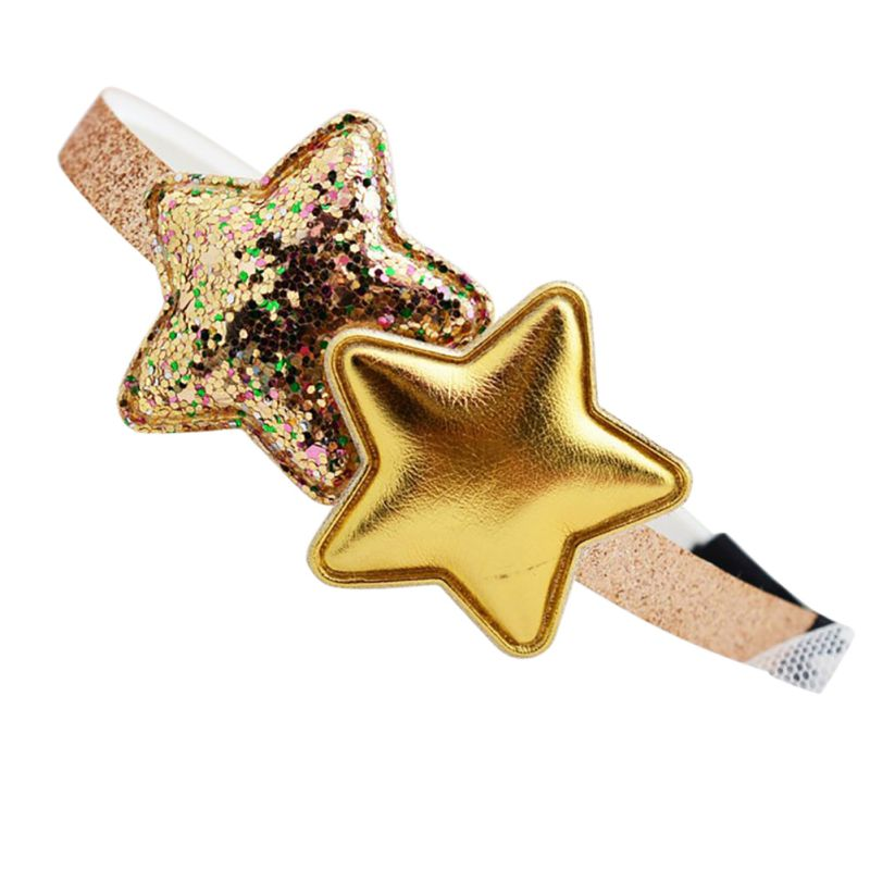 New Kids Girls Hair Accessories Baby Girls Love Star Headwear Princess Solid Color Headbands RZ
