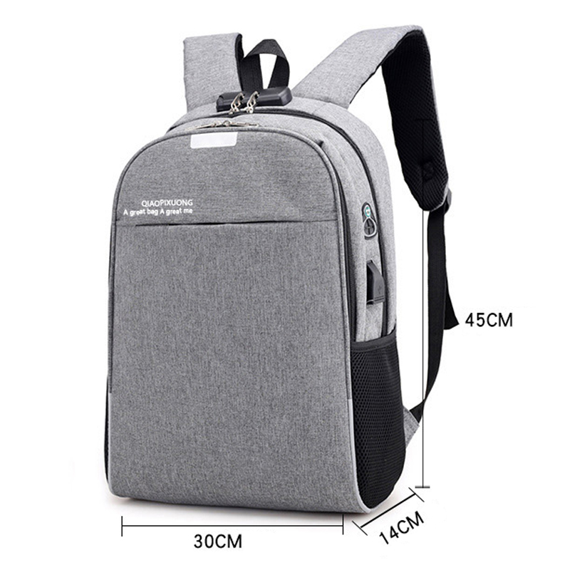 Travel Business School Backpack Anti Theft Bag Women Men Laptop Backpacks USB Charging Male Female 15 6 Notebook Bagpack Man Bag in Backpacks from Luggage Bags