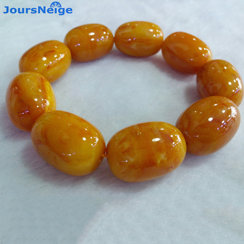 Wholesale Dark Yellow Ore Bright Natural Stone Bracelets Lucky For Women Men Single Lap Bucket Beads Hand String Simple Jewelry