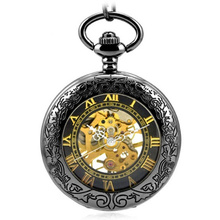 Retro Hombres Reloj de Bolsillo Mecánico del Steampunk Clásicos de Estilo Antiguo Hombre de Primeras Marcas de Lujo Análogo de Los Hombres de Cadena de Reloj de Bolsillo Freeshipping