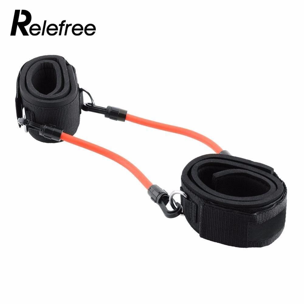 Relefree тренировки ноги Фитнес прочность сопротивление кинетическая полосы трубки для Мощность Kick Бокс тайский удар каратэ
