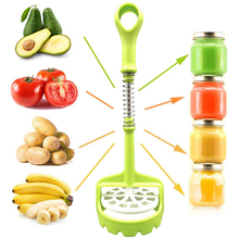 Multifunction Potato Presser Masher Spring Push Type Fruit Vegetable Smasher Avocado Cauliflower Kitchen Supplies