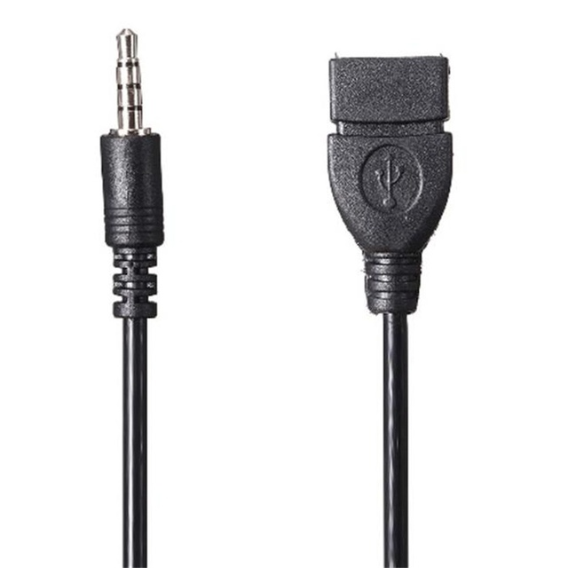 2018 HOT SALE 3.5mm Male Audio AUX Jack to USB 2.0 Type A Female OTG Converter Adapter Cable very nice