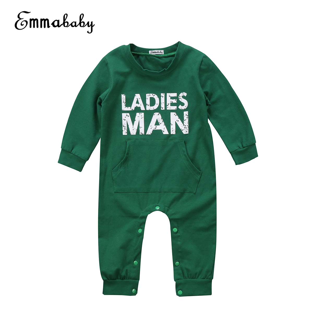 Summer new casual kid green rompers Top Baby Kids Newborn fashion Boy Infant long sleeve Romper Jumpsuit cute kid Clothes Outfit