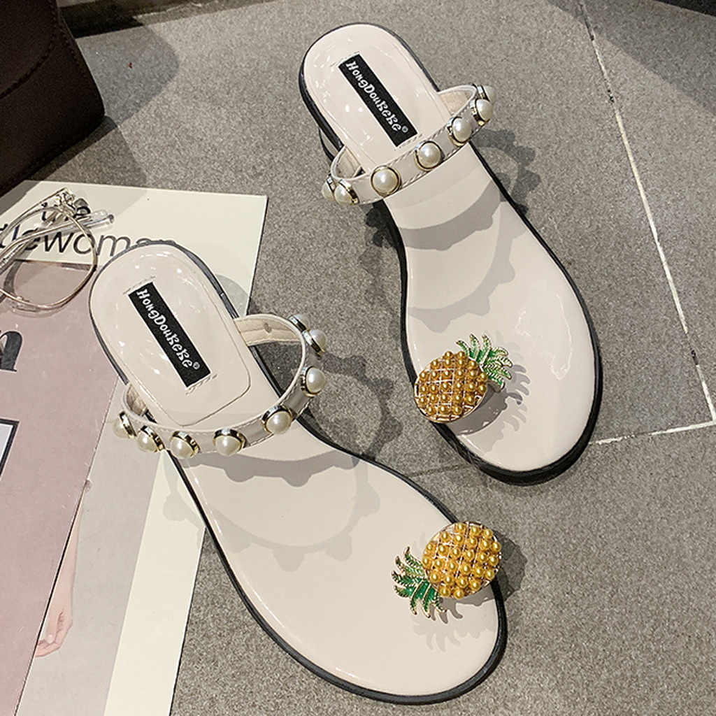 Sagace Kasual Sandal Wanita Musim Panas Datar Pin Bawah Kaki Toe Kata Sandal Sexy Kualitas Tinggi Di Luar Sepatu Wanita