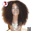 8A Grade 1X3  U Part Wig Afro Kinky Curly Wig Peruvian Virgin Human Hair Wig Affordable Glueless For Black Women