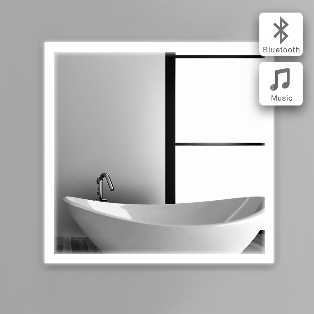 bath mirror in bathroom bluetooth illuminated led glass mirror bluetooth mirror wall ip44 102b 90