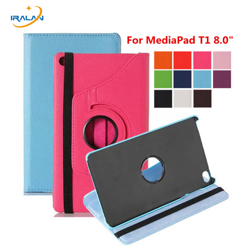 2018 Hot 360 Rotating Flip stand PU Leather Cover For Huawei MediaPad T1 8.0 T1-821 T1-821W T1-823L S8-701U S8-701W Tablet Case srjtek 8 for huawei mediapad t1 8 0 pro 4g t1 821l t1 821w t1 823l t1 821 n080icp g01 lcd display touch screen panel assembly