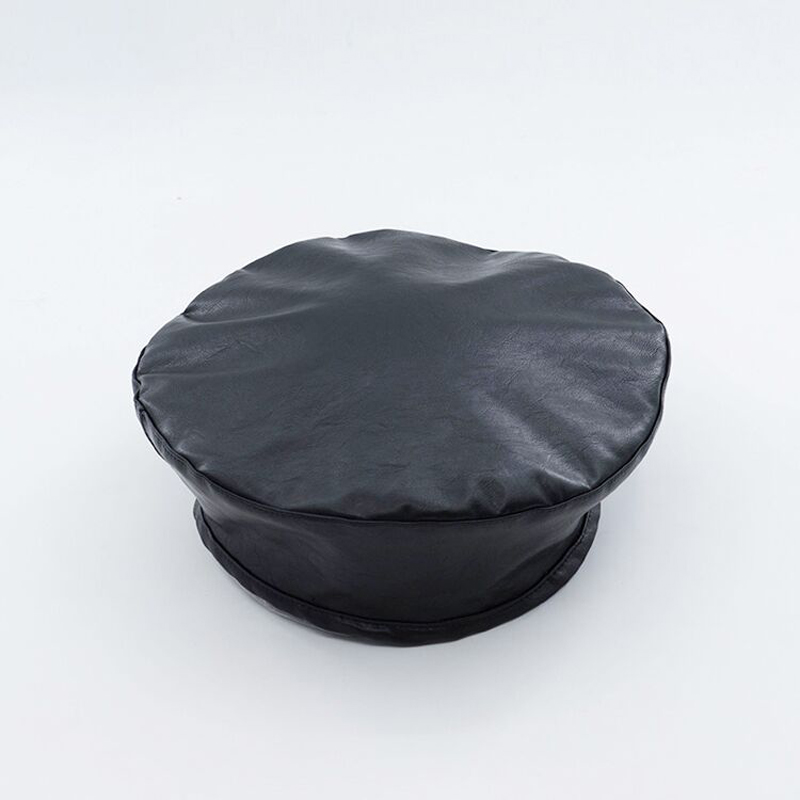 42663a1231e 2018 high quality Fashion black Felt Pu Leather Beret Hat Women Cap Female  Ladies Beanie Beret Girls For Spring And Autumn-in Berets from Apparel ...