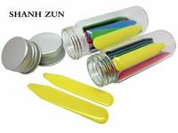 SHANH ZUN 36 Pcs Colorful Plastic Collar Stays In 2 Glass Bottles 2 2 37 Best