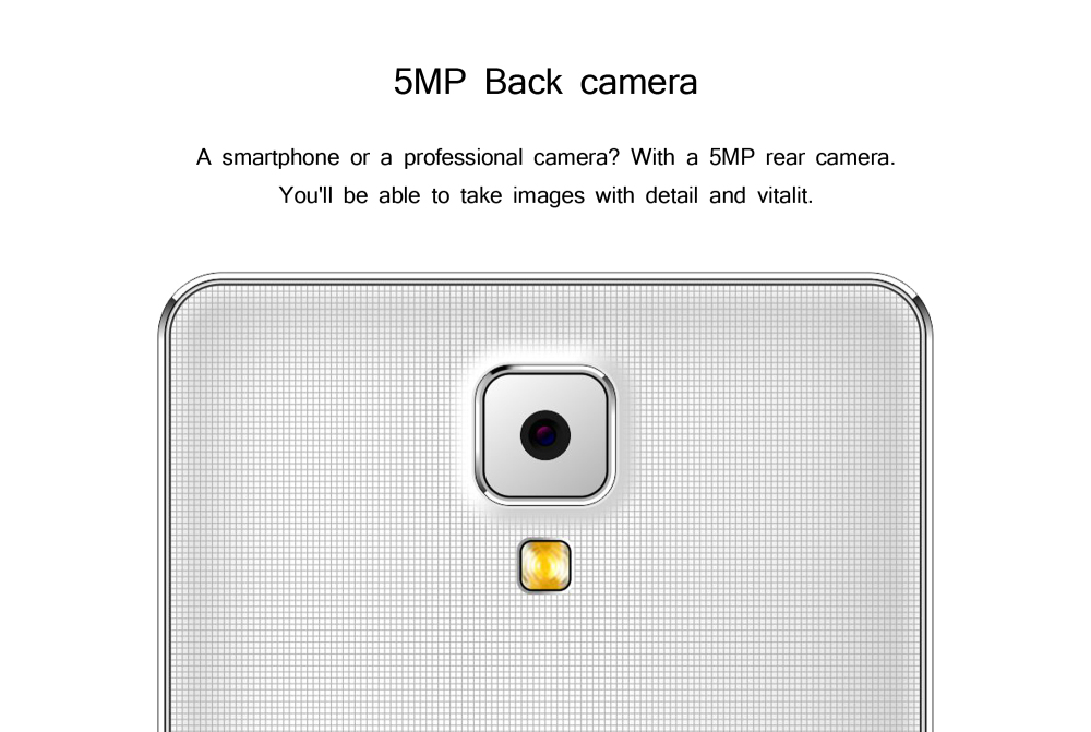 5MP Back camera