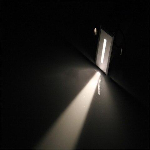 1 w led escadas lampada de parede