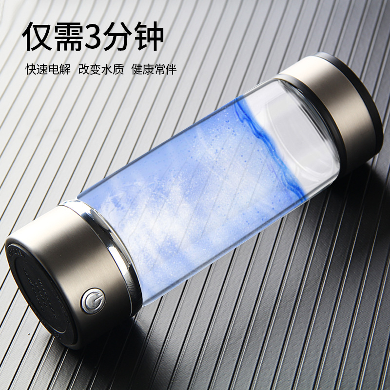 Water Filters Candid Rechargeable Rich Hydrogen Water Generator Electrolysis Energy Smart Cup Orp H2 Spe Water Ionizer Bottle 360ml