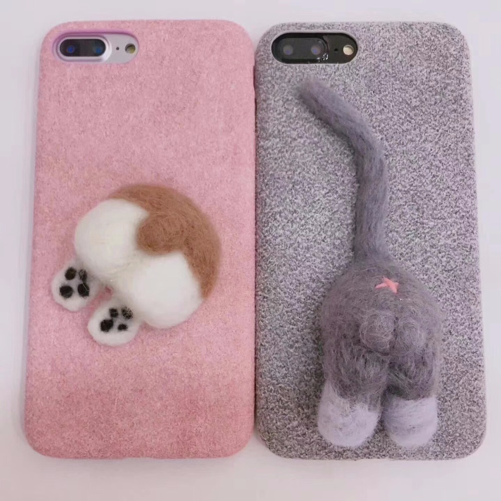 Luxury Ultra Slim woven fabric denim Cloth Protection Cover Case for iphone8 7 7 6 6s Plus Soft Silicone Casing Cute exquisite