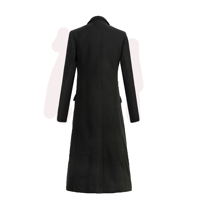 Men X-Long Wool   Trench   Coat Brand New Quality Blends Windbreaker Long Overcoat Male Winter   Trench   Pea Coat Drop Shipping