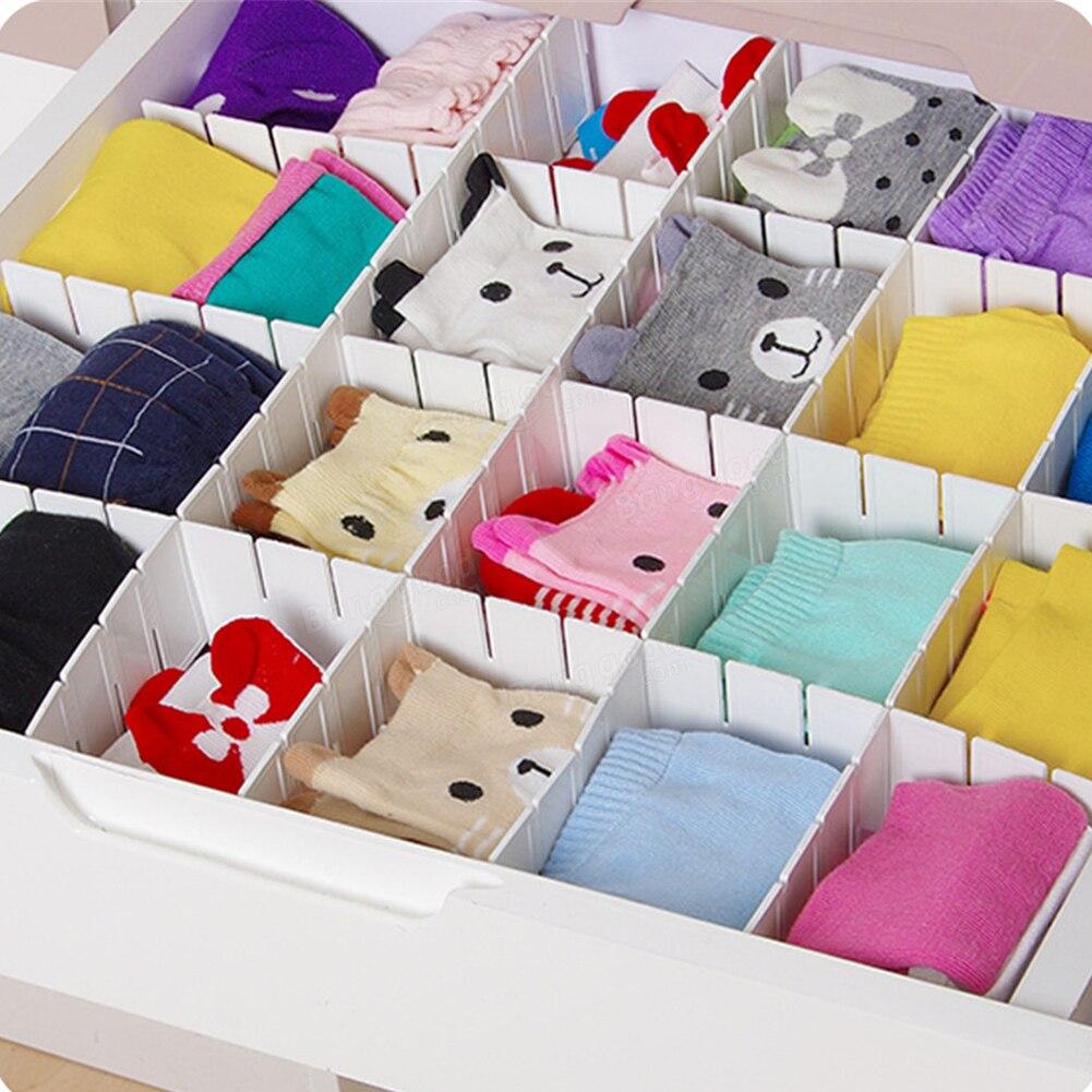 Schindel Partition Divider Kleiderschrank Socken Organisieren Schindeln Einstellbare Schublade Schrank Diy Grid Lagerung Organizer 0828