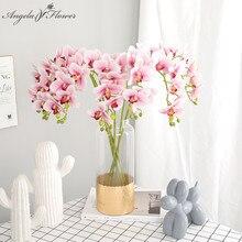 70 см искусственный цветок орхидеи настоящий сенсорный декор из латекса Орхидея композиция для DIY свадебный домашний стол офис Рождественский подарок