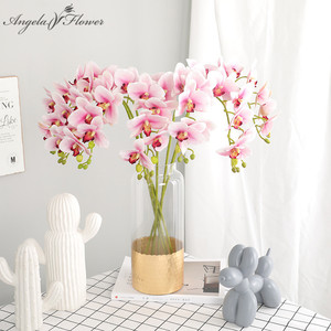70 cm artificials orchid flower real touch latex decoration orchid arrangement for DIY wedding home table office Christmas gift
