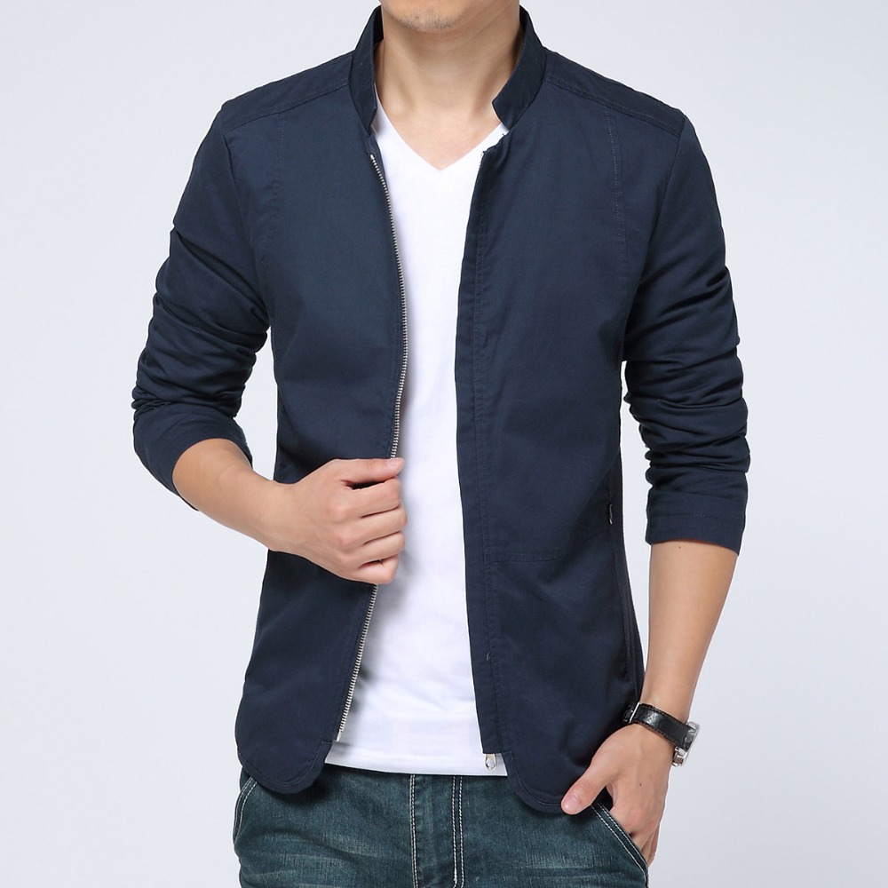 2015 Fashion design Casual Men's Jackets men coat black/navy blue Brand abrigos y chaquetas - LEFTGU Store store