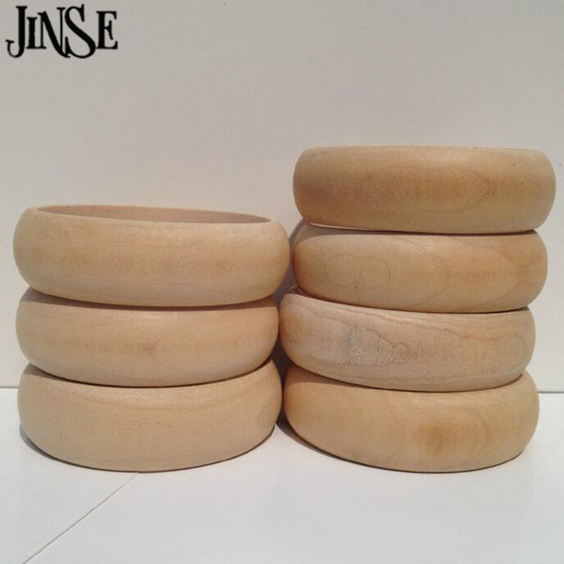20pcs Unpainted Wooden Bangles 2.20cm Width 6.60CM Inner Diameter Jewellery Natural Supplies Plain Wristlet