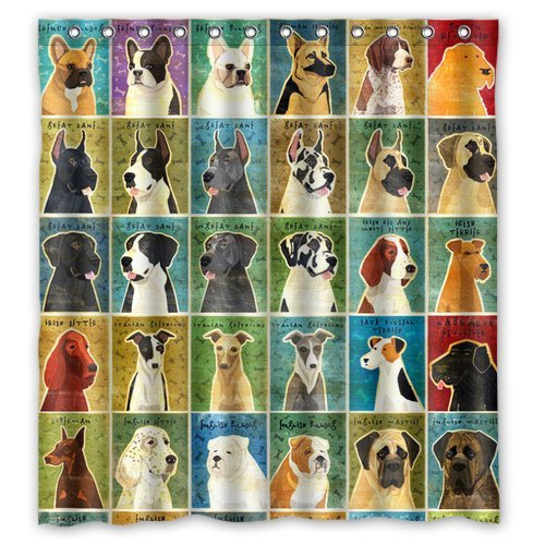 Multi Color Optional Shower Curtain Popular Funny Lovely Labrador Dog  Design Waterproof Polyester Fabric Bathroom Shower Curtain In Shower  Curtains From ...