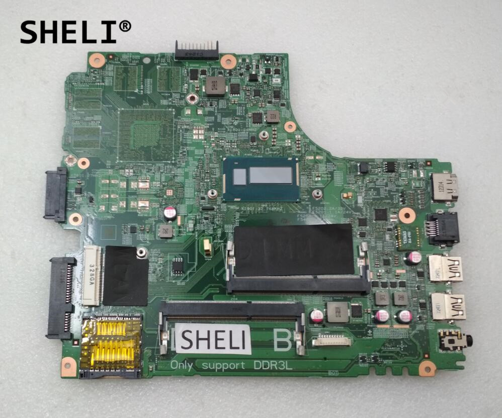 SHELI For DELL 14R 5437 3437 Motherboard I3-4010U DOE40-HSW CN-0Y3JGV 0Y3JGV Y3JGVSHELI For DELL 14R 5437 3437 Motherboard I3-4010U DOE40-HSW CN-0Y3JGV 0Y3JGV Y3JGV