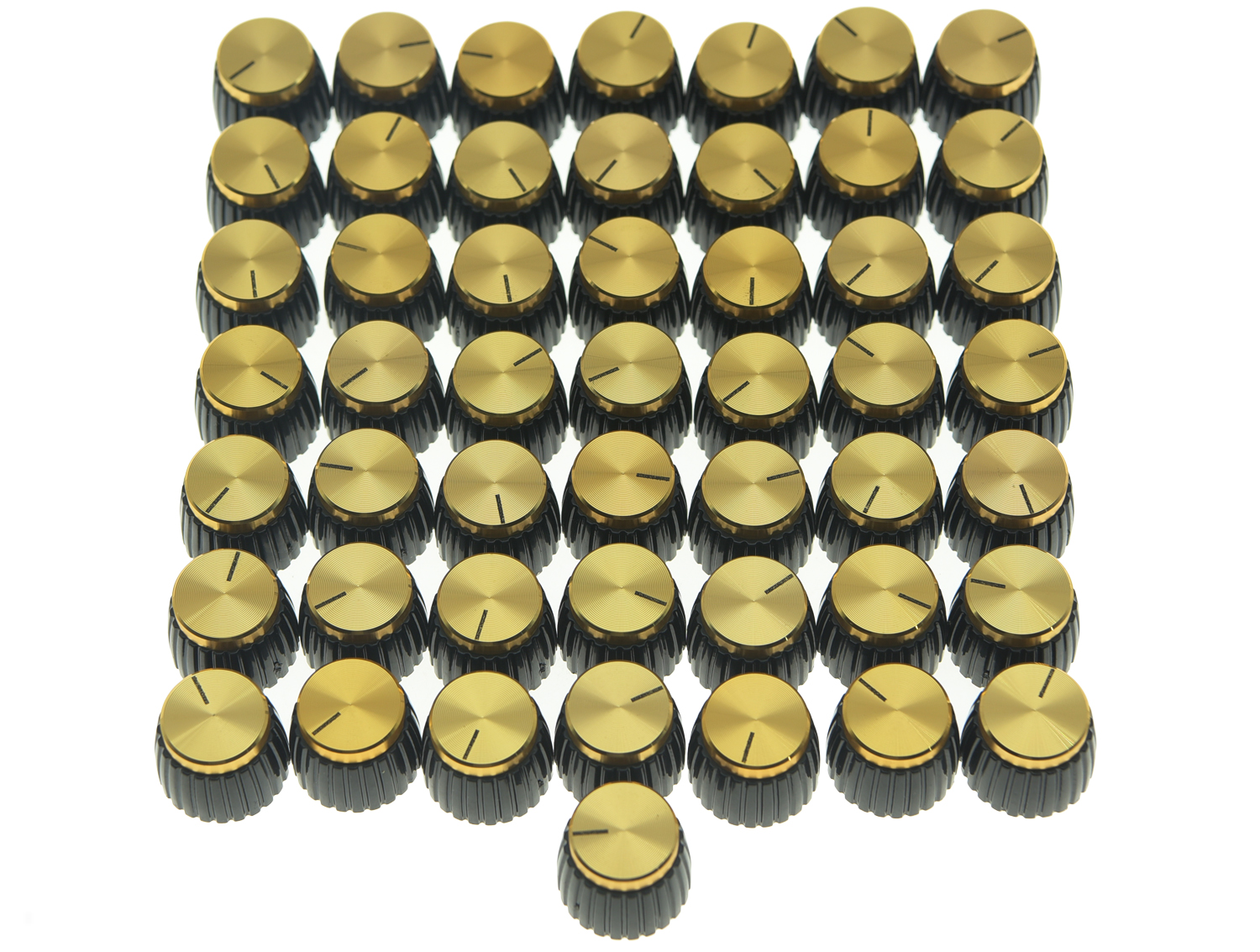 50x Guitar AMP Amplifier Knobs Black W/ Gold Cap Push On Knob Fits Marshall AMP