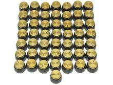 50x guitarra AMP amplificador perillas negro con tapa de oro empuje en Knob encaja Marshall AMP