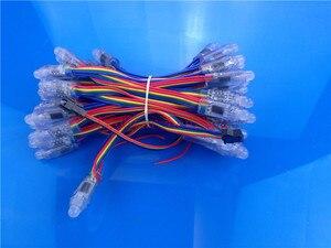 Image 2 - 1000 шт. WS2811 Светодиодный модуль пикселей 12 мм IP68 RGB рассеянный адресуемый для буквенного знака DC 5 В + контроллер T1000S + адаптер питания