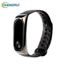 Hangrui Newest Silicone Wrist Strap For Xiaomi Mi Band 3 Smart Band Colorful Smart Wristband Bracelet For Xiaomi Mi Band 2 Strap