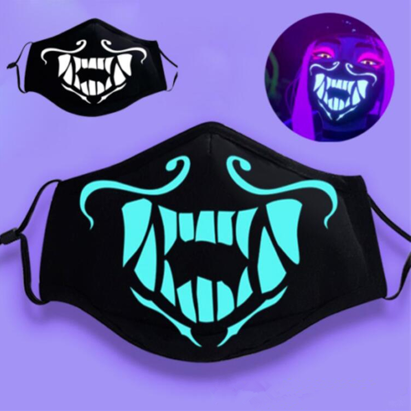 K/DA Kda Akali Assassin Cosplay Costumes S8 Night Lights Face Mask Game