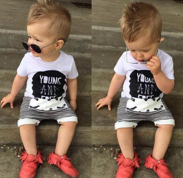 SK085 2018 summer children Bob chooses shorts for baby girls boys cross printed pants sh ...