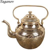 handmade Pure copper Teapot water kettle 750 ml 950 ml 1300 ml jasmine tea green raw puer longjing tea pu erh tieguanyin tea pot