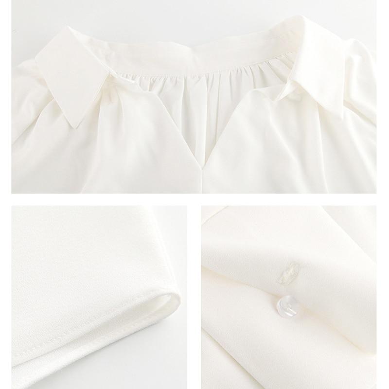 Blanche Bande Mode Costumes Corée 2018 Travail Noir Style White Ensemble Blouse Top Pantalons Black Chemise Pièce Pantalon Porter L'entreprise Bureau Rg Set 2 De Automne a6Uwdqa