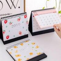 Настольный календарь 2019 работа маленький календарь поворотный стол календарь план Блокнот