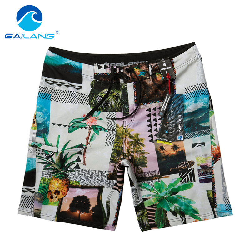 ФОТО Gailang Brand Men Beach Shorts Man Quick Drying Swimwear Swimsuits Men Board Shorts Plus Size Boardshort Sunga Bermuda Masculina