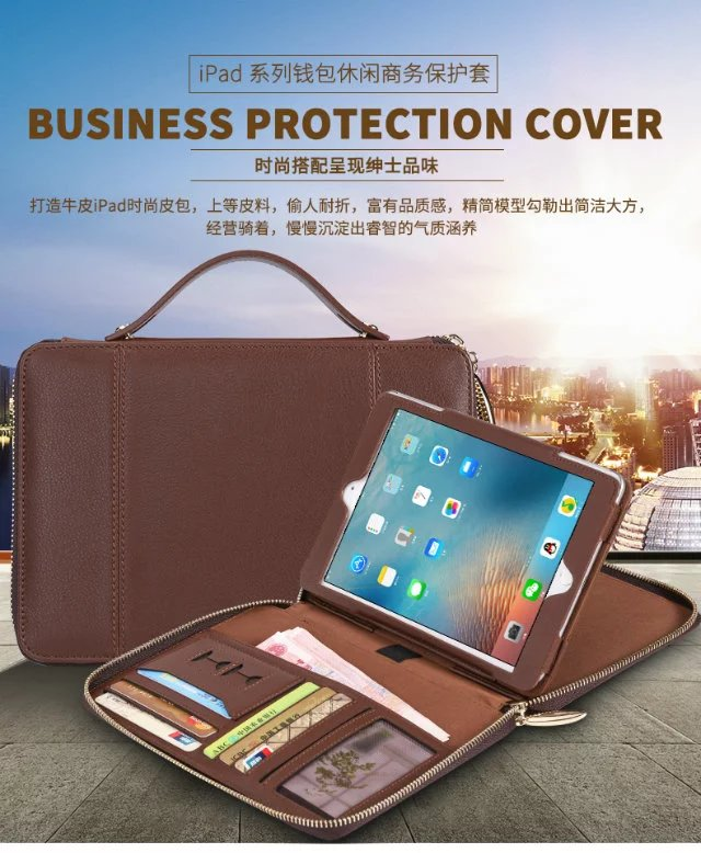 Wallet Case for iPad 3 for iPad 2 9.7 inch Leather bag Cover Folio Stand Case Auto Sleep/Wake Function for iPad 4 9.7