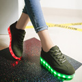 Luminous Lighted Shoes 7 Colors Women Glowing Fashion Led Shoes Flats Fashion USB Rechargeable Light Up for Adults