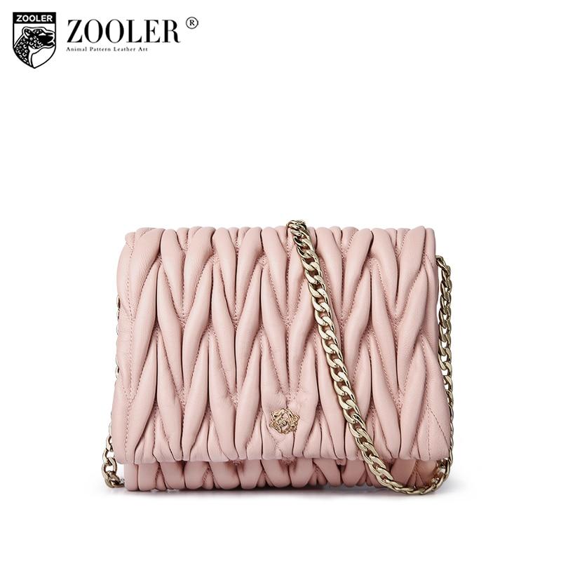 !!!ZOOLER Mini-bag luxury chain genuine leather woman messenger bag Magnetic buckle designed sheepskin cross body woman bag B106